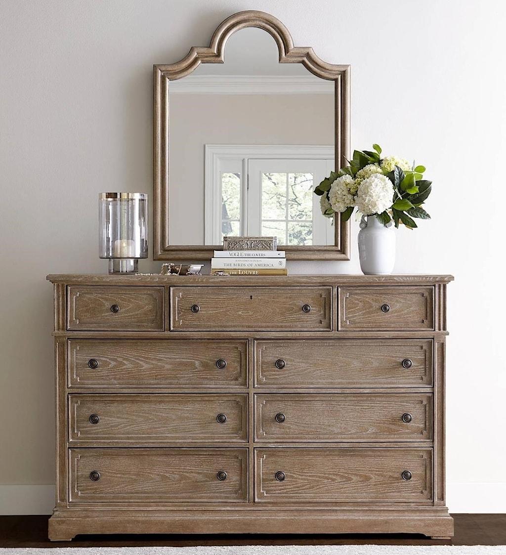 Stanley Furniture Wethersfield Estate Dresser with Flip Down Drawer
