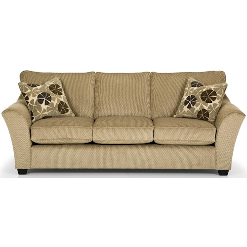 Stanton 112 Contemporary Sofa with Flared Arms and Exposed Wood Feet