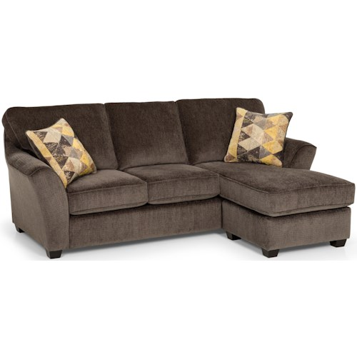 Stanton 112 Contemporary Chaise Sofa with Flared Arms