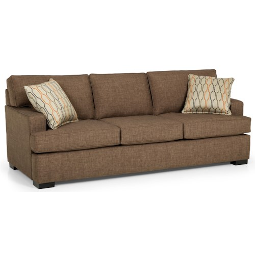 Stanton 146 Contemporary Basic Sleeper Sofa with Track Arms