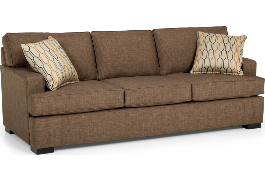 Stanton 146 Contemporary Gel Sleeper Sofa with Track Arms ...