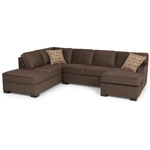Stanton 146 Contemporary Two Piece Sectional Sofa with LAF Chaise