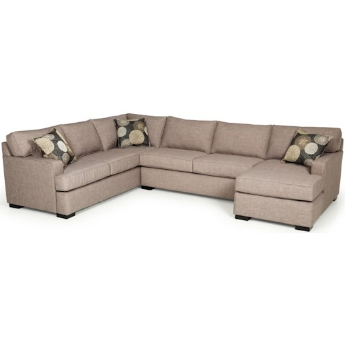 Stanton 146 Contemporary Three Piece Sectional Sofa with Chaise