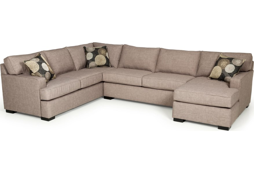 Pleasing Stanton 146 Contemporary Three Piece Sectional Sofa With Caraccident5 Cool Chair Designs And Ideas Caraccident5Info