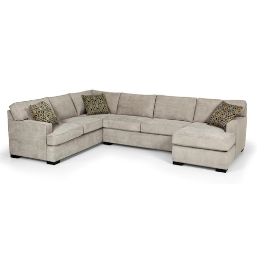 Stanton 146 Contemporary Four Piece Sectional Sofa w/ LAF Chaise