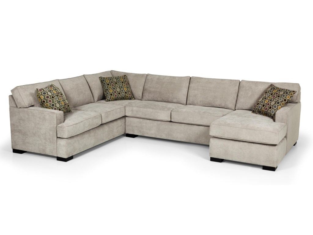 146 Contemporary Four Piece Sectional Sofa w/ LAF Chaise by Stanton at  Gallery Furniture