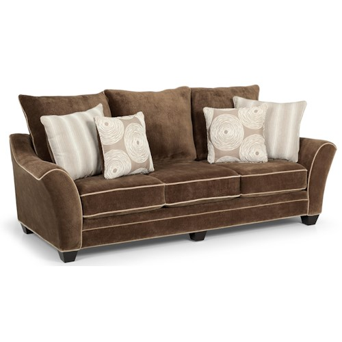 Sunset Home 156 Contemporary Scattered-Back Sofa