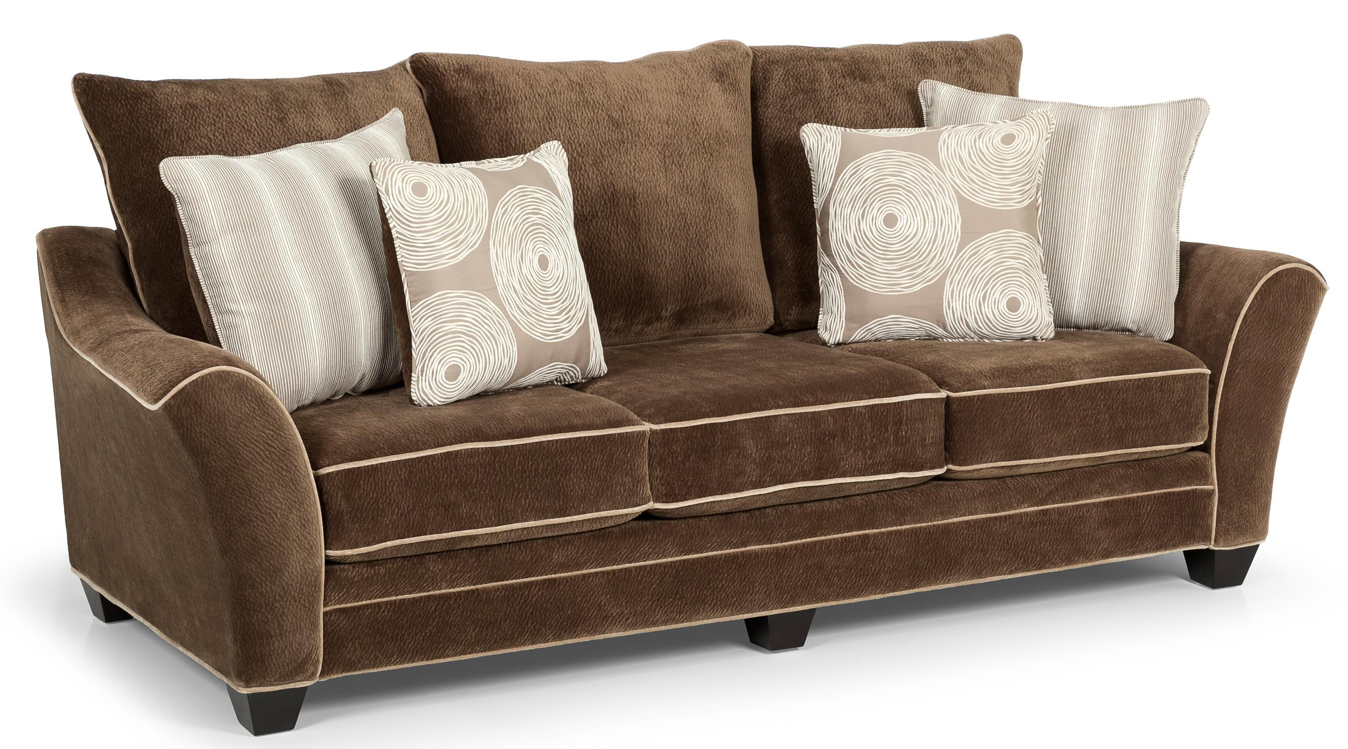 Sunset Home 156 Contemporary Scattered Back Sofa