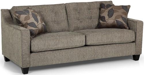 Stanton 177 Contemporary Button-Tufted Sofa with Track Arms