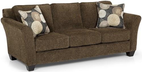 Stanton 184 Contemporary Three Over Three Sofa with Flared Arms