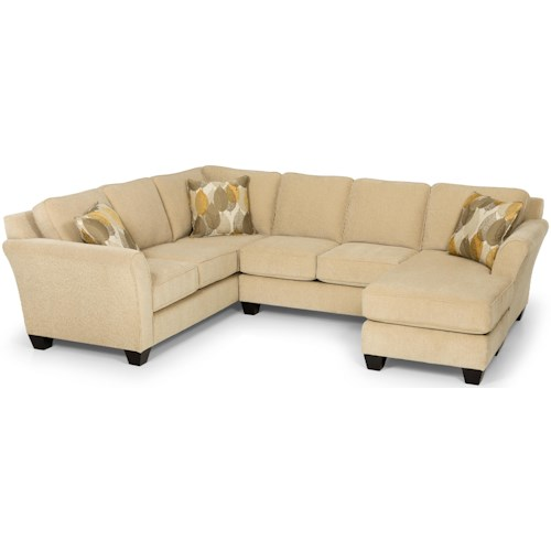 Stanton 184 Contemporary Two Piece Sectional Sofa with RAF Chaise