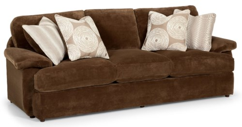 Feather Sofa Stanton 186 Casual Three Over Sofa With