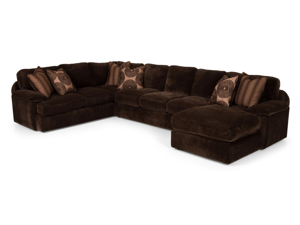 Stanton 1863 Pc Sectional Sofa w/ LAF Chaise