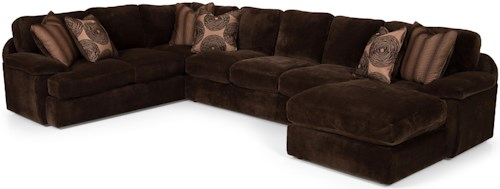 Stanton 186 Three Piece Sectional Sofa with LAF Chaise