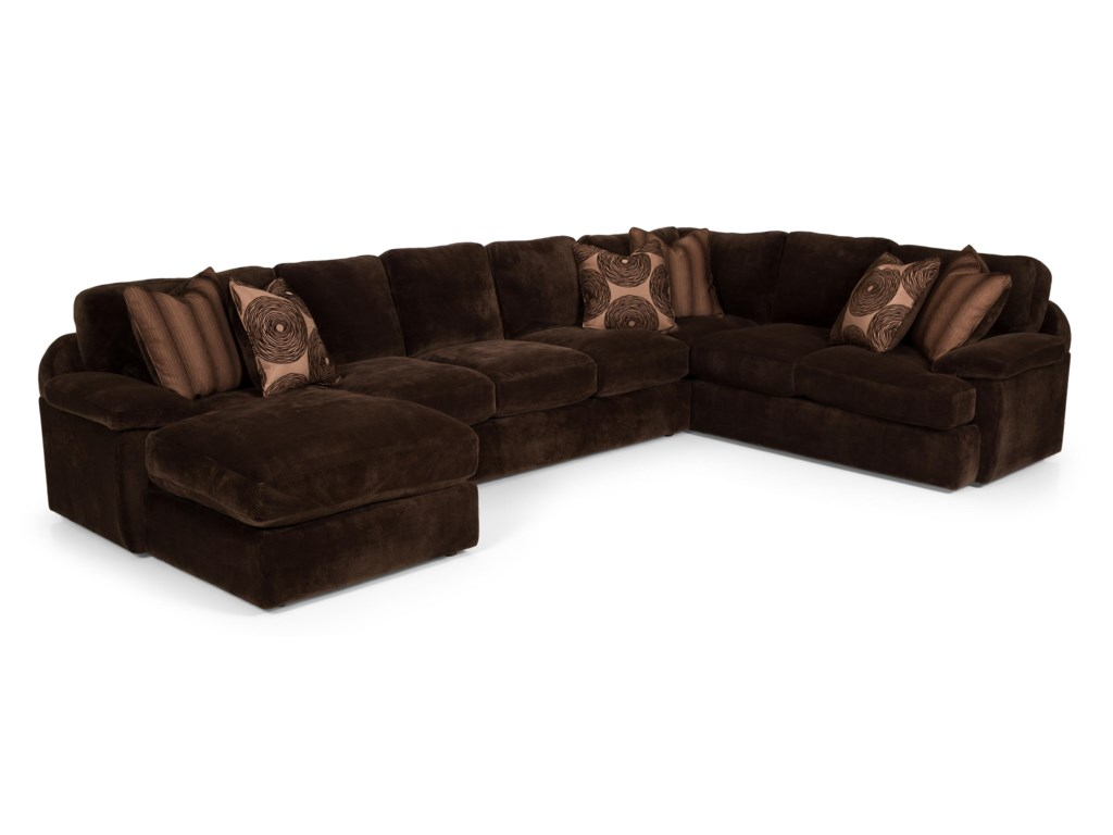 Stanton 1863 Pc Sectional Sofa w/ RAF Chaise