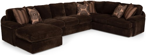 Stanton 186 Three Piece Sectional Sofa with RAF Chaise