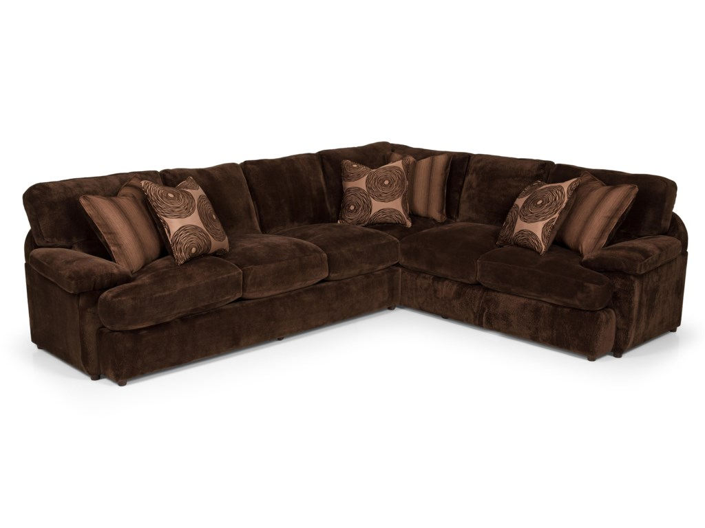 Stanton 1862 Pc Sectional Sofa w/ LAF Loveseat