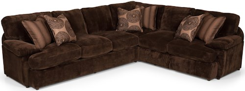 Stanton 186 Two Piece Sectional Sofa with LAF Loveseat