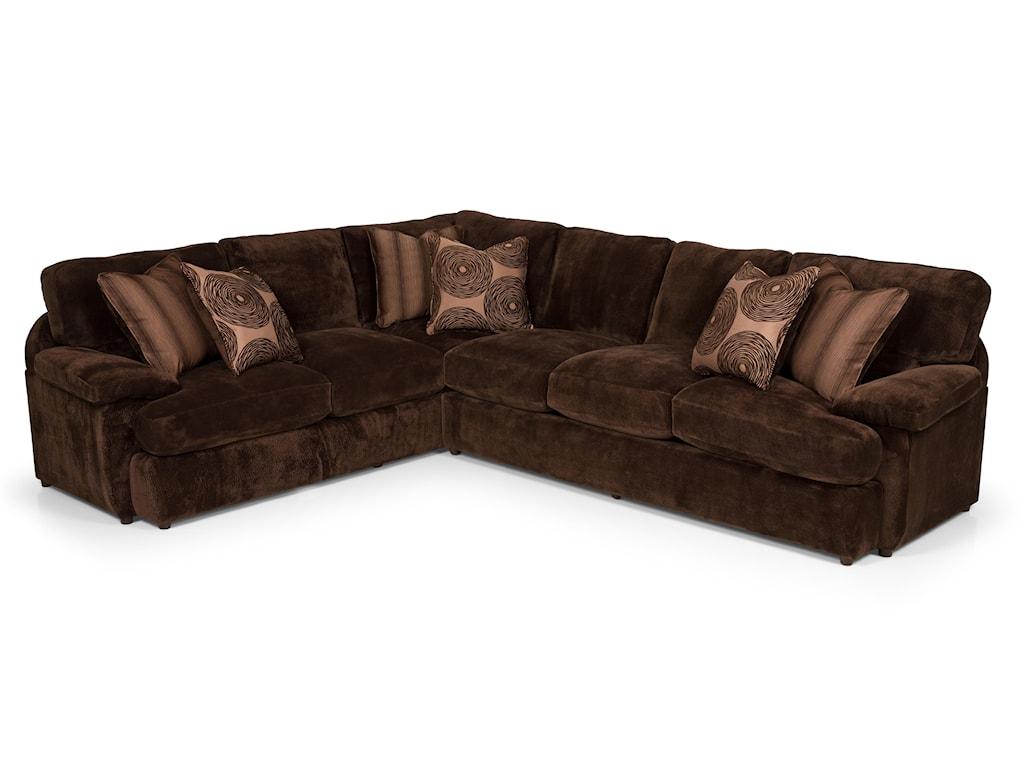 Stanton 1862 Pc Sectional Sofa w/ RAF Loveseat