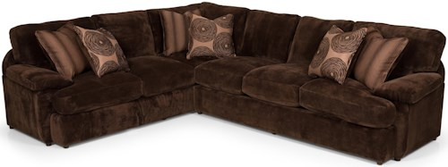Stanton 186 Two Piece Sectional Sofa with RAF Loveseat