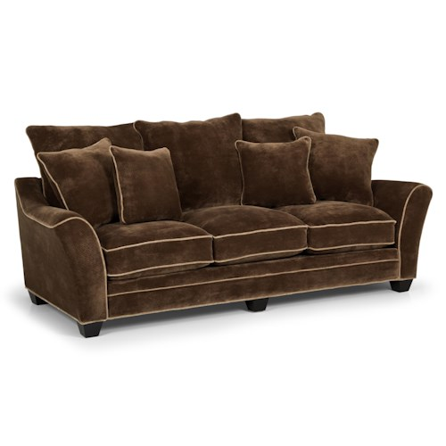 Stanton 197 Contemporary Scattered-Back Sofa with Contrasting Welt Trim