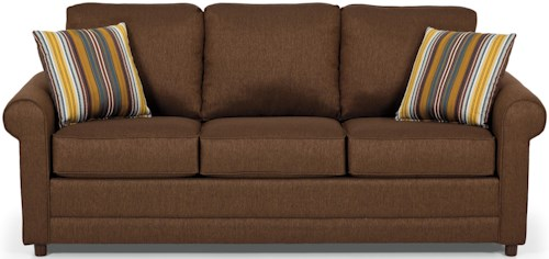 Stanton 202 Transitional Queen Gel Sleeper Sofa with Rolled Arms