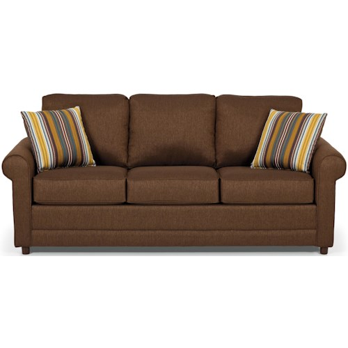 Stanton 202 Transitional Queen Basic Sleeper Sofa with Rolled Arms