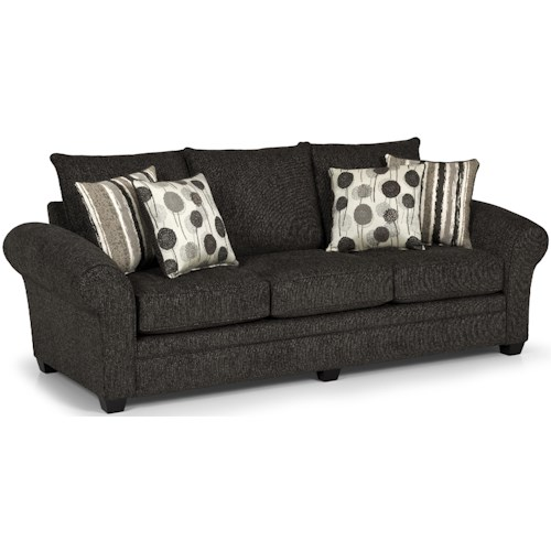 Stanton 206 Transitional Three Over Three Sofa with Flared and Rolled Arms