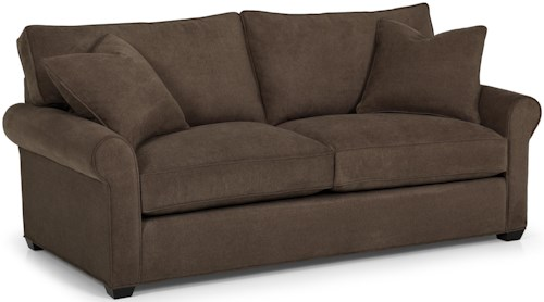 Stanton 225 Transitional Stationary Sofa with Rolled Arms