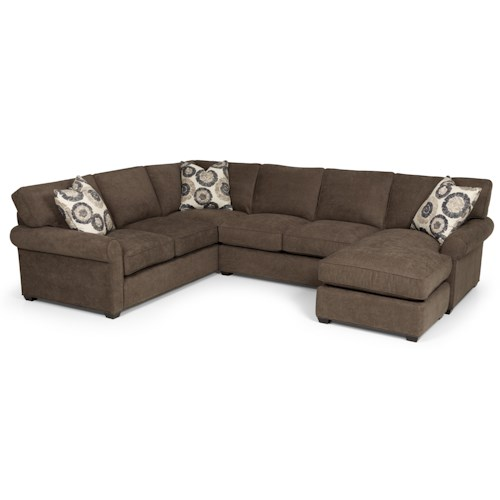 Sunset Home 225 Transitional 2 Piece Sectional Sofa with Chaise