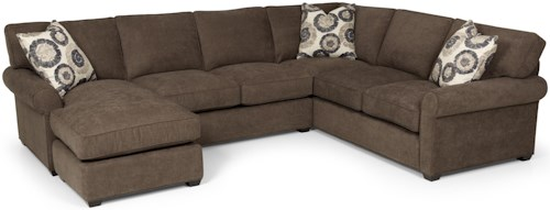 Stanton 225 Transitional 2 Piece Sectional Sofa with Chaise