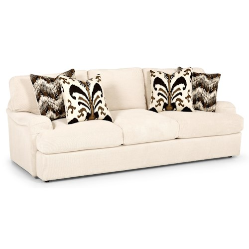 Stanton 232 Casual Sofa with Pleated Track Arm