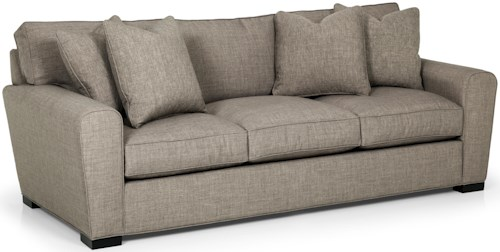 Stanton 282 Casual Sofa with Loose Pillow Back and Rolled Arms