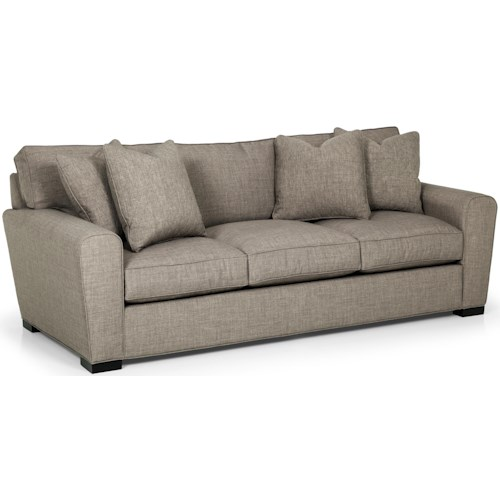 Sunset Home 282 Casual Sofa with Loose Pillow Back and Rolled Arms