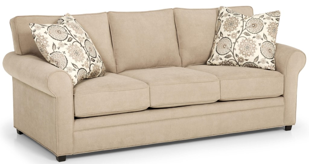 Stanton 283 Casual Sofa With Rolled Sock Arms Gallery Furniture