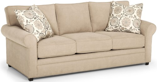 Stanton 283 Casual Queen Basic Sofa Sleeper with Rolled Sock Arms