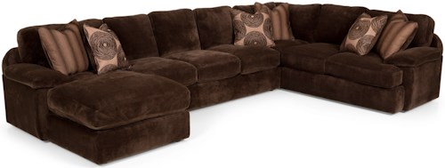 Stanton 286 Casual Sectional Basic Sleeper Sofa with Pillow Arms