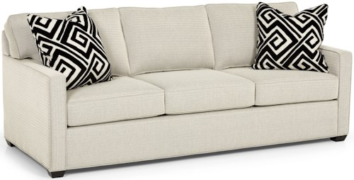Stanton 287 Contemporary Queen Gel Sleeper Sofa with Track Arms