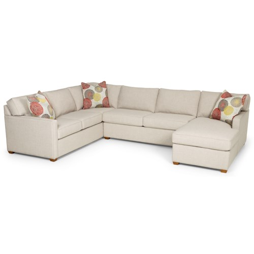 Stanton 287 Contemporary Sectional Sofa with Chaise