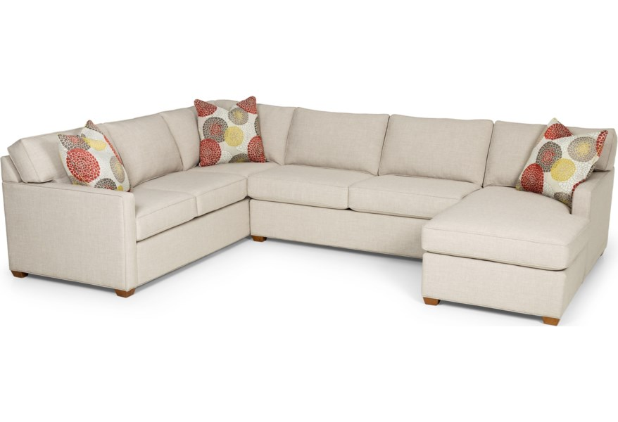Stanton 287 Contemporary Sectional Sofa with Chaise ...