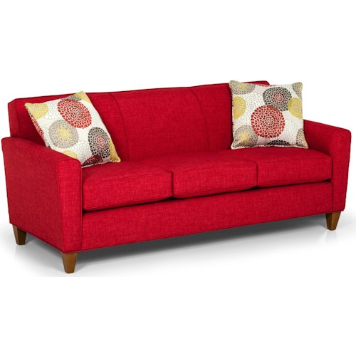 Stanton 298 Transitional Sofa with Track Arms and Tight Back