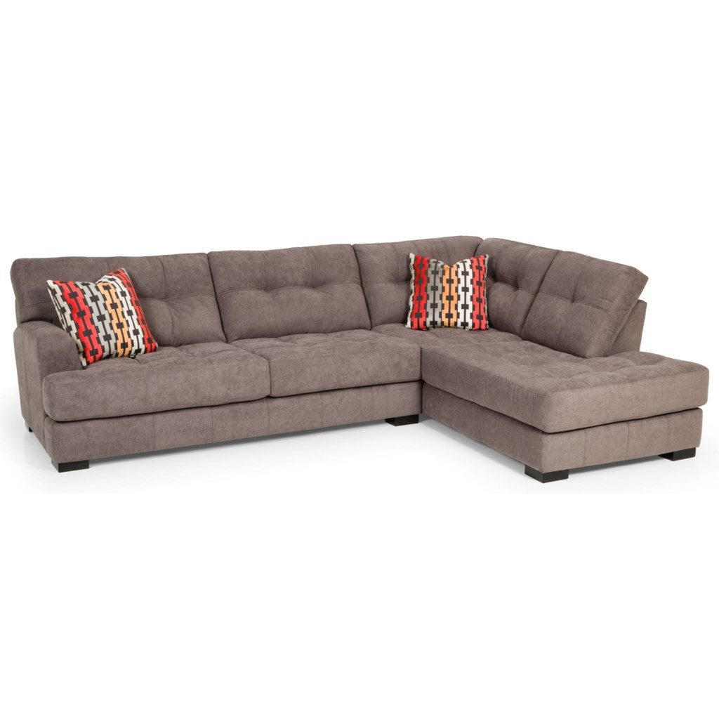 308 casual two piece sectional sofa by stanton