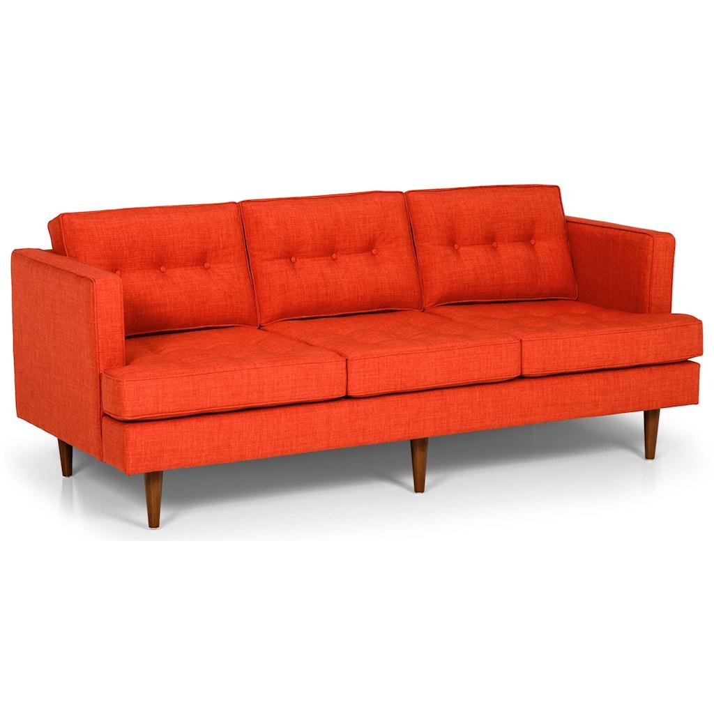 Stanton 317 Mid Century Modern 80 Inch Sofa Gallery Furniture Sofas