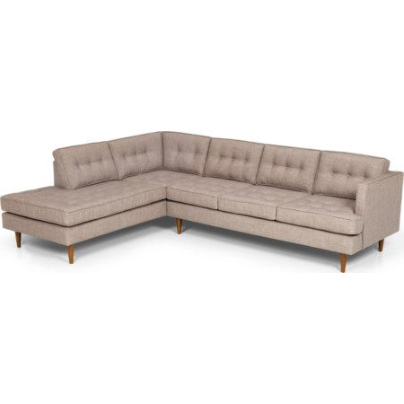 2 Pc Sectional Sofa w/ LAF Chaise