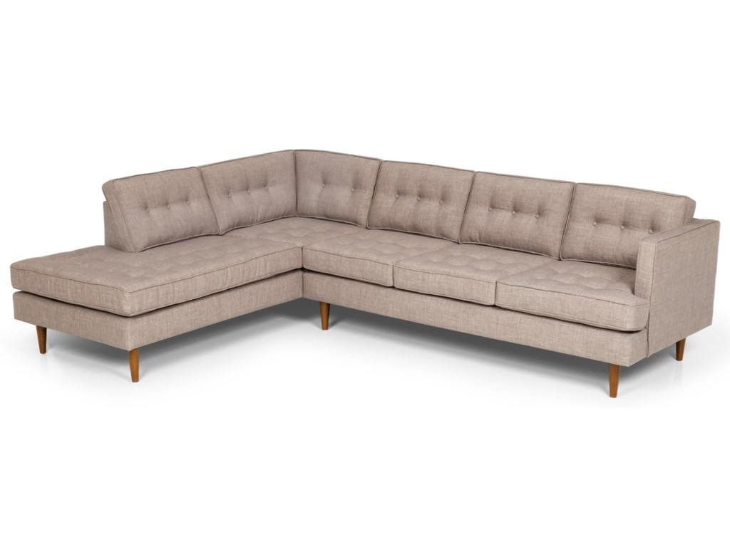 Stanton 317 Mid Century Modern 2 Piece Sectional Sofa with LAF ...