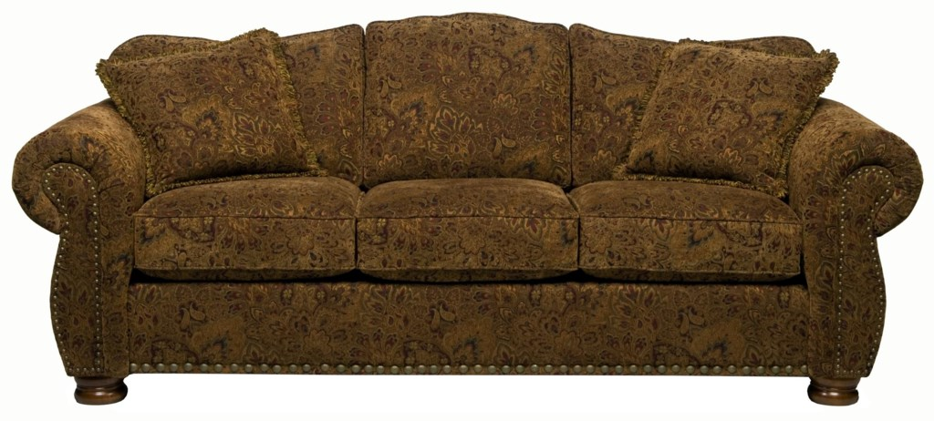 Stanton 326 Traditional Camel Back Queen Gel Sofa Sleeper With