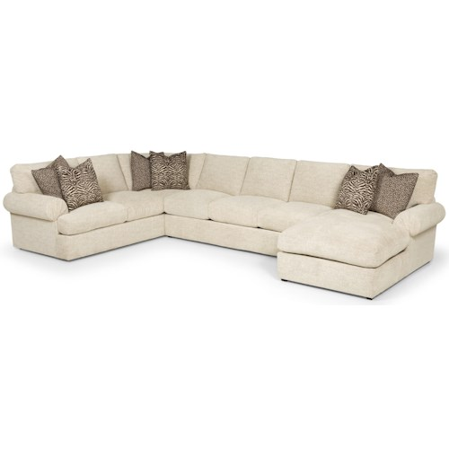 Stanton 329 Transtional Sectional with Left Arm Loveseat and Right Arm Chaise