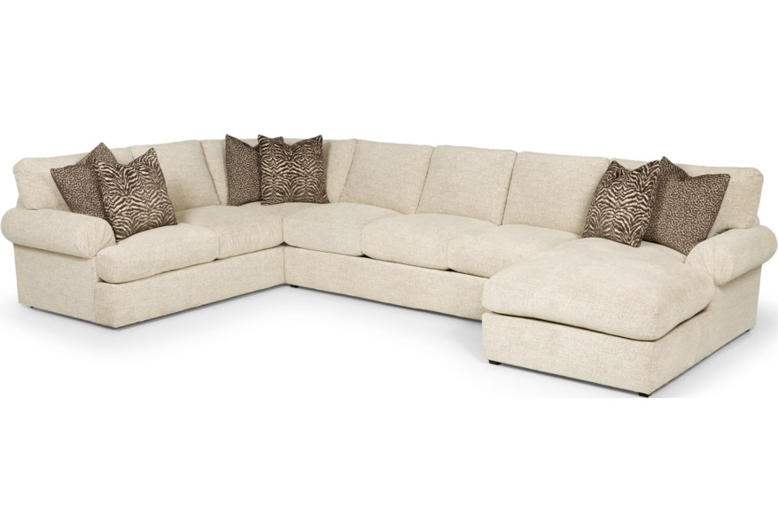 Stanton 9 Transtional Sectional with Left Arm Loveseat and Right