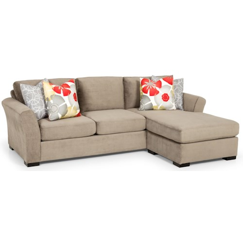 Stanton 330 Casual Chaise Sofa with Flared Arms
