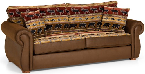 Stanton 331 Casual Queen Gel Sleeper Sofa with Rolled Panel Arms